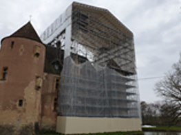 Rénovation du château Ainay-le-Vieil